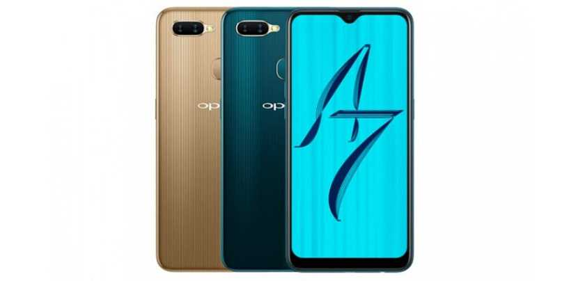 Oppo A7 with Snapdragon 450 SoC, 4230 mAh Battery and Water Drop Notch Launched
