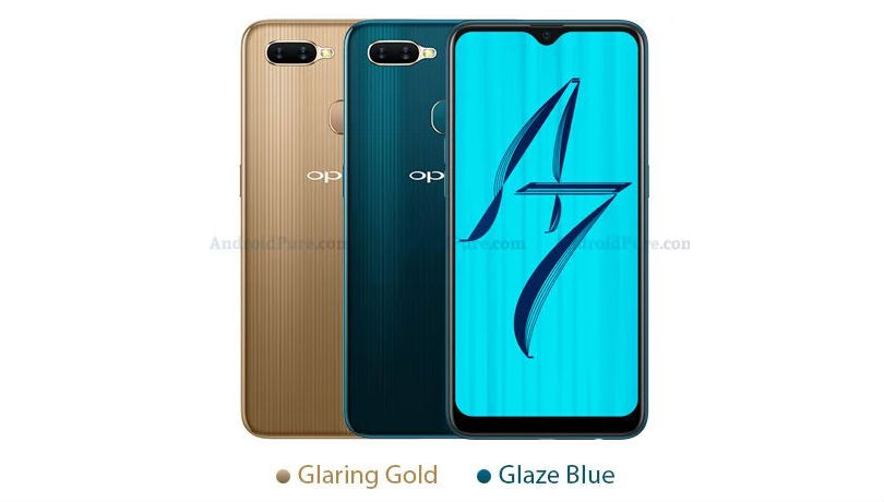 Oppo A7 Leaked Colours
