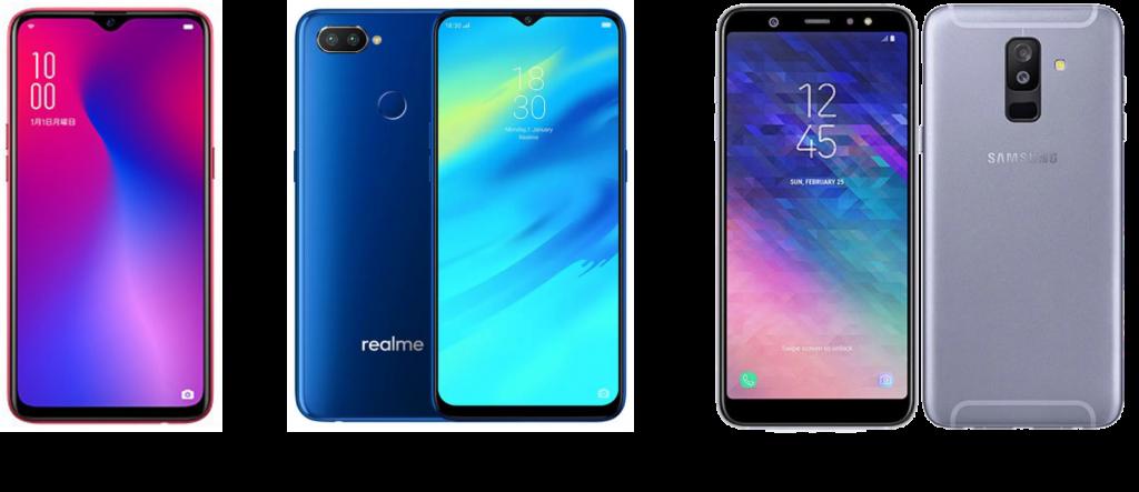 Oppo R17 Neo vs Realme 2 Pro vs Samsung Galaxy A6s: Price