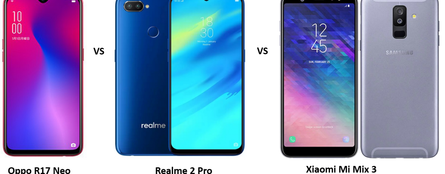 Oppo R17 Neo vs Realme 2 Pro vs Samsung Galaxy A6s: Price, Features and Specifications Compared