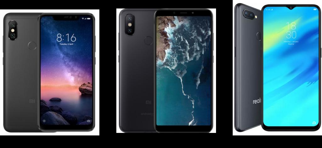 Redmi Note 6 Pro vs Xiaomi Mi A2 vs Realme 2 Pro