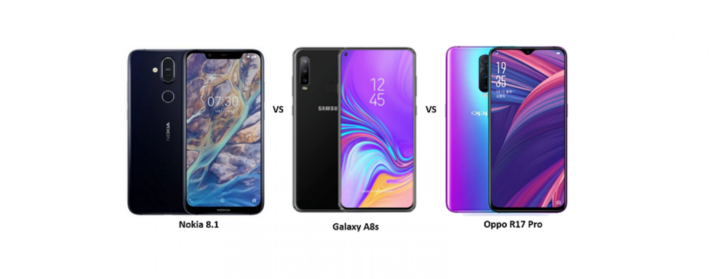 Nokia 8.1 vs Samsung Galaxy A8s vs Oppo R17 Pro: Price, Features and Specifications Compared