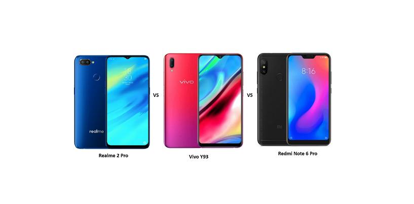 Realme 2 Pro vs Vivo Y93 vs Xiaomi Redmi Note 6 Pro: Which Is a Better Buy?