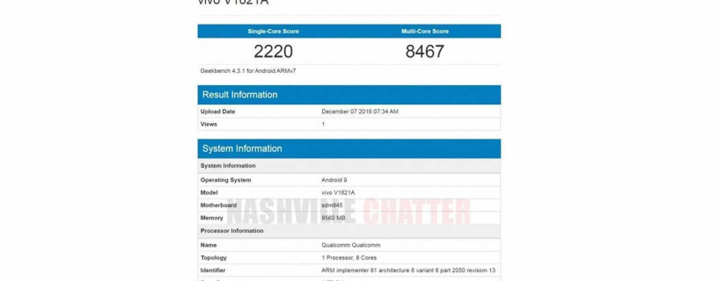 Vivo NEX 2 Reported to Feature 10GB RAM and Snapdragon 845 SoC