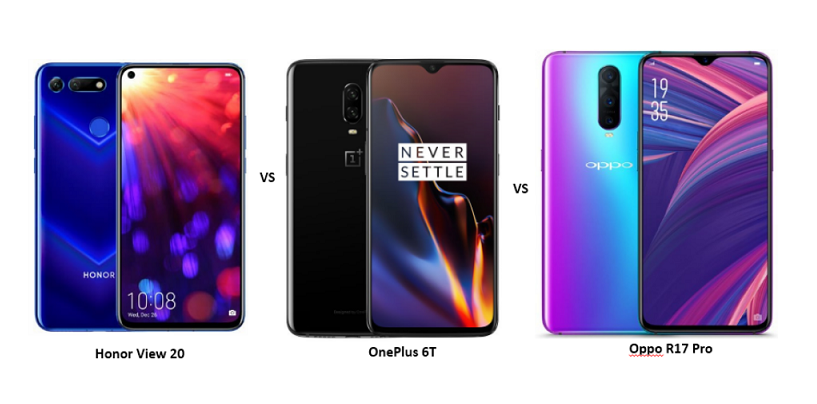 Honor View 20 vs OnePlus 6T vs OPPO R17 Pro: The Battle of Affordable Flagships