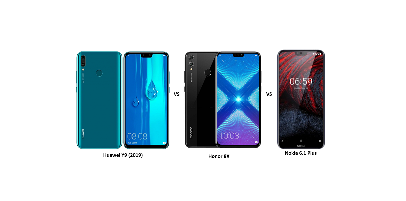 Huawei Y9 (2019) vs Honor 8X vs Nokia 6.1 Plus: Yet Another Battle of Mid-rangers