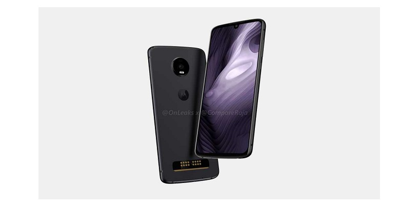 [CompareRaja EXCLUSIVE] First Leaked Renders of Moto Z4 Play: Will Sport a Water-Drop Notch