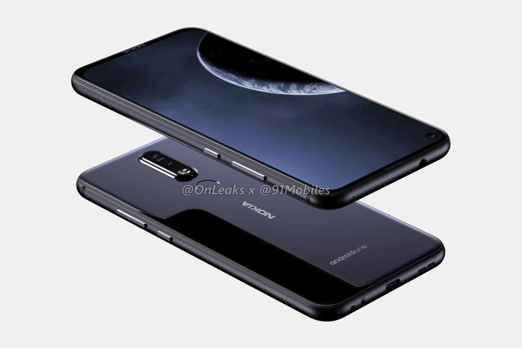 Alleged Nokia 8.1 Plus Renders Reveal Hole-in-Display Design