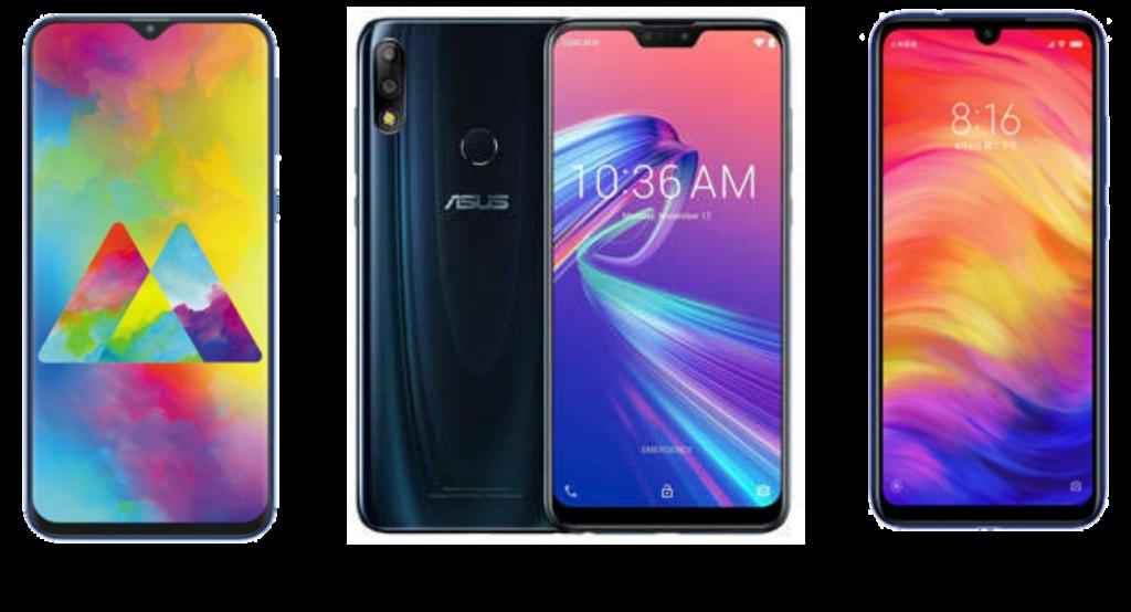 Samsung Galaxy M20 vs ASUS Zenfone Max Pro M2 vs Xiaomi Redmi Note 7