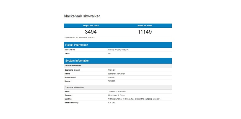 Xiaomi Black Shark Skywalker Leaks via Geekbench: Will Feature Snapdragon 855