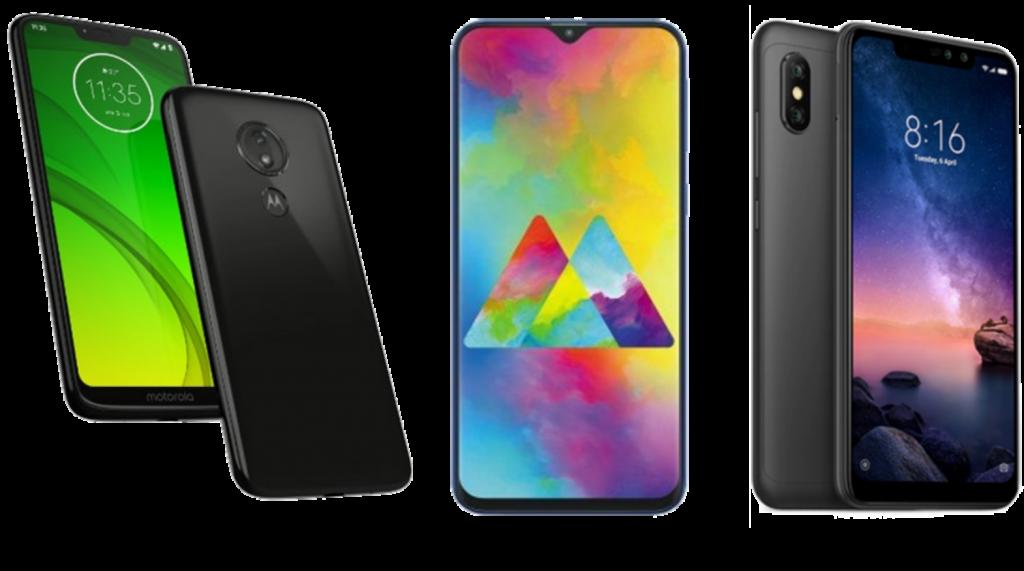Moto G7 Power vs Samsung Galaxy M20 vs Xiaomi Redmi Note 6 Pro: