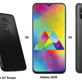 Moto G7 Power vs Samsung Galaxy M20 vs Xiaomi Redmi Note 6 Pro: Price, Features and Specs Compared