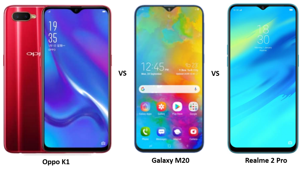 Oppo K1 vs Realme 2 Pro vs Samsung Galaxy M20