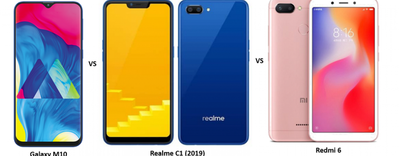 Samsung Galaxy M10 vs Realme C1 (2019) vs Xiaomi Redmi 6: Price, Features and Specifications Compared