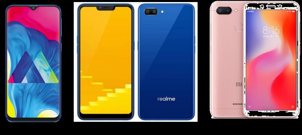 e9d370f2bcd Samsung Galaxy M10 vs Realme C1 (2019) vs Xiaomi Redmi 6  Price ...