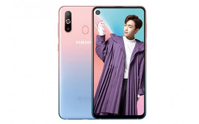 Samsung Galaxy A8s Pink Gradient Colour