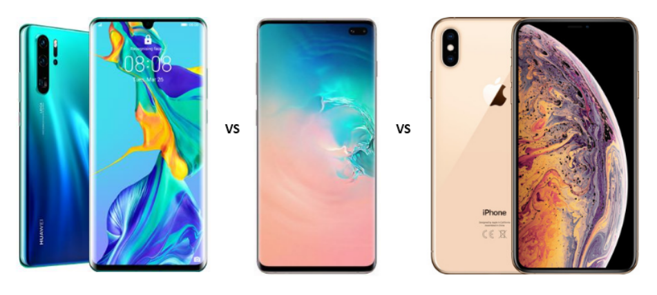 Huawei P30 Pro vs Samsung Galaxy S10 Plus vs iPhone XS Max