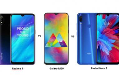 Realme 3 vs Samsung Galaxy M20 vs Redmi Note 7: Will Realme 3 Be Able to Combat?