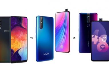 Samsung Galaxy A50 vs Vivo V15 Pro vs Oppo F11 Pro: Battle of Mid-rangers Continues
