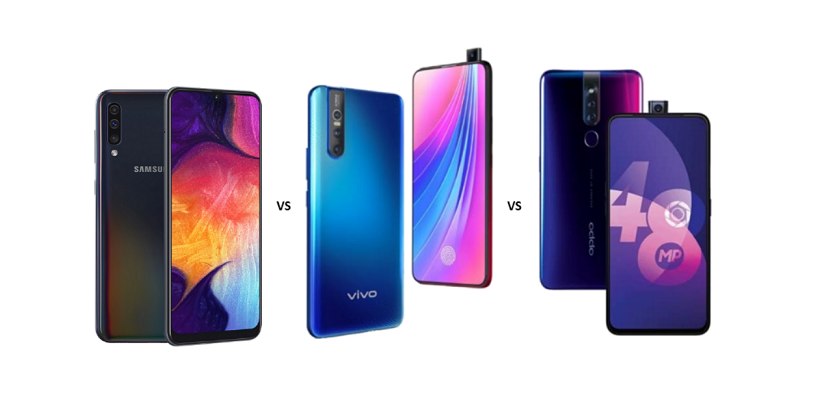 Samsung Galaxy A50 vs Vivo V15 Pro vs Oppo F11 Pro: Battle of Mid-rangers Continues