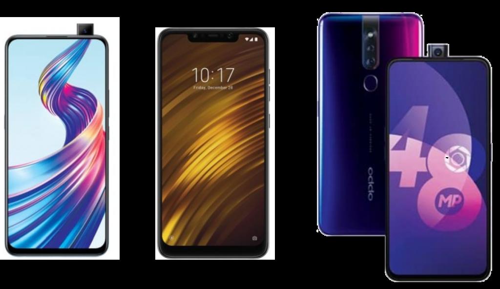 Vivo V15 vs Xiaomi Poco F1 vs Oppo F11 Pro