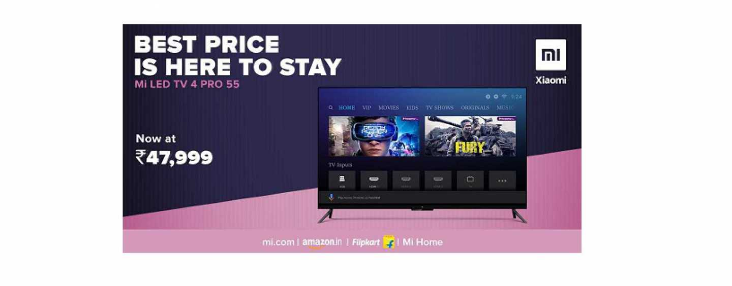 Xiaomi Mi LED TV 4 Pro 55-Inch Price Slashed By Rs 2,000 To Rs. 47,999