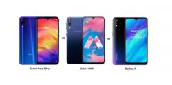 Xiaomi Redmi Note 7 Pro vs Samsung Galaxy M30 vs Realme 3: Price, Design and Specifications Compared