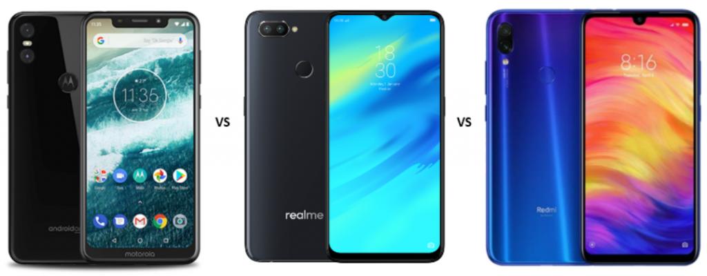 Motorola One vs Realme 2 Pro vs Redmi Note 7 Pro