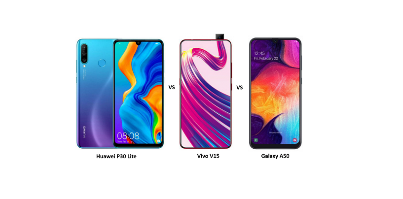 Huawei P30 Lite vs Vivo V15 vs Samsung Galaxy A50: Price, Features and Specifications Compared