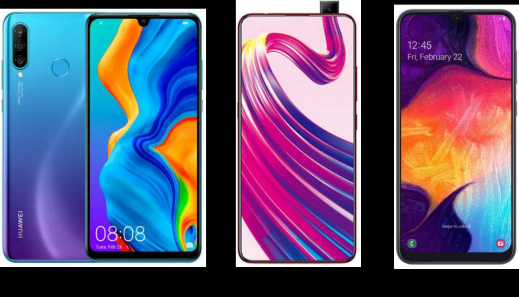 Huawei P30 Lite vs Vivo V15 vs Samsung Galaxy A50: Price