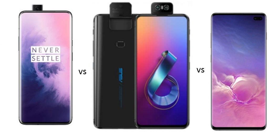 Oneplus 7 Pro vs ASUS Zenfone 6 vs Samsung Galaxy S10