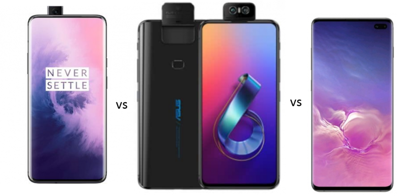 Oneplus 7 Pro vs ASUS Zenfone 6 vs Samsung Galaxy S10: Price in India, Features and Specs Compared