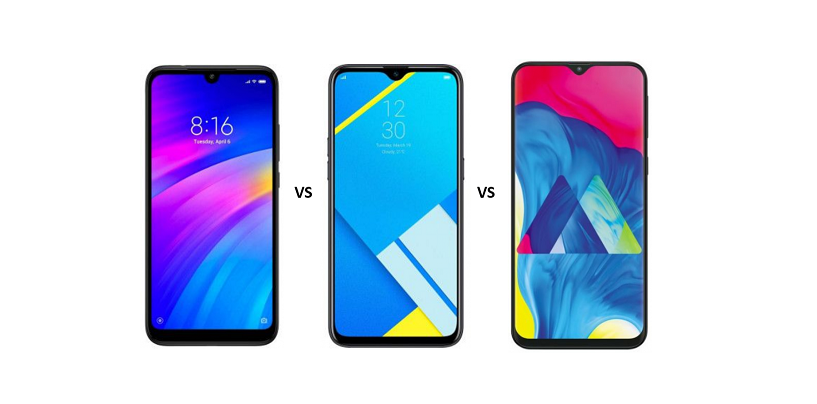 Redmi 7 vs Realme C2 vs Samsung Galaxy M10: Price, Features and Specs Compared