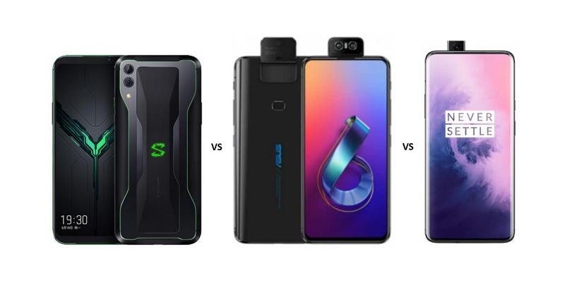 Xiaomi Black Shark 2 vs ASUS Zenfone 6 vs OnePlus 7 Pro: The Battle of Budget Flagships