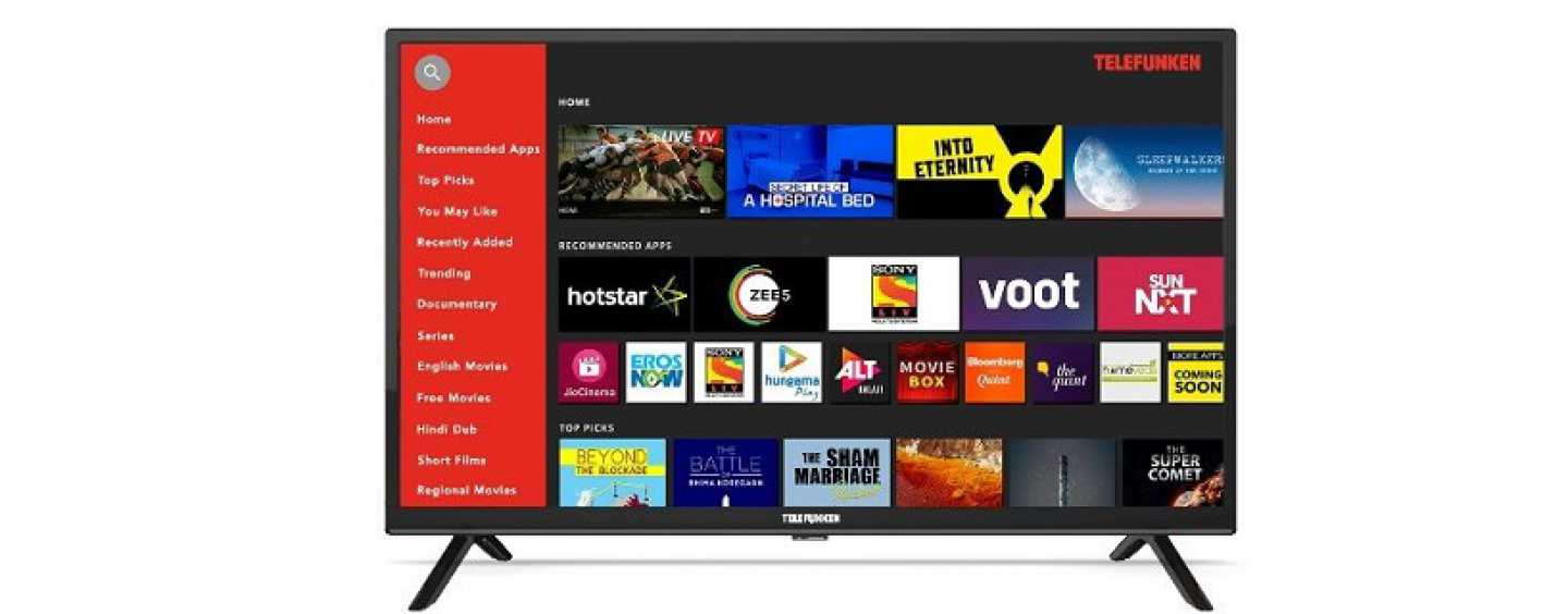 Telefunken's HD-Ready Smart TV Of Size 32-Inch Launched At ₹9,990