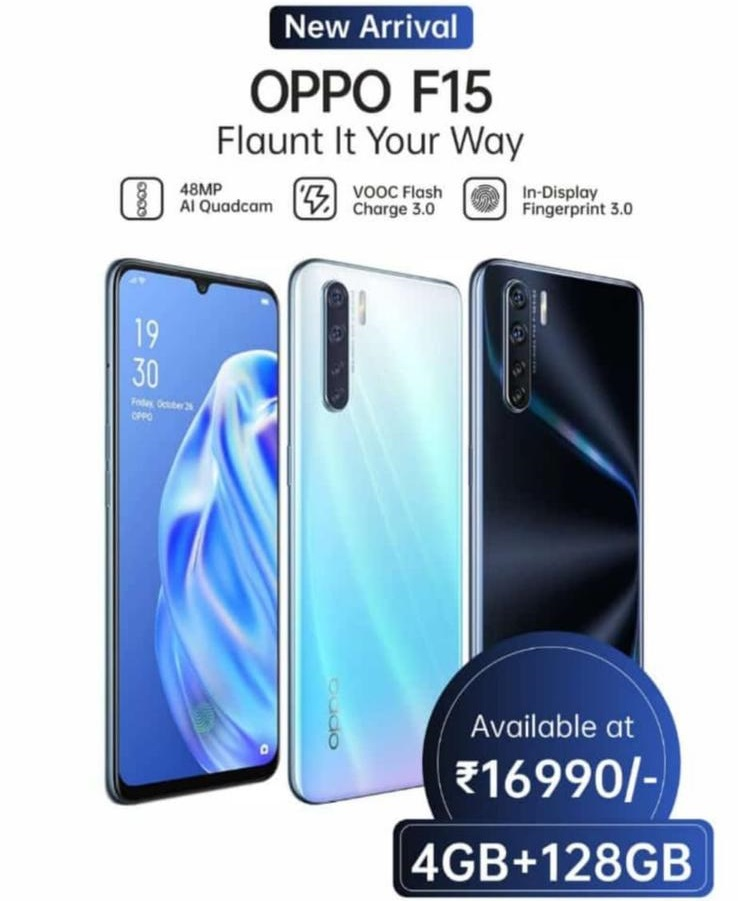 Oppo F15's Base Variant With 4 GB RAM Launched In India