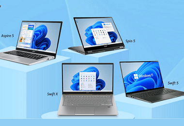 Acer Launched Spin, Swift, and Aspire Laptops in India with Windows 11; Here Are Key Details